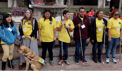 Braille Challenge participants at the Southern California Regional Braille Challenge