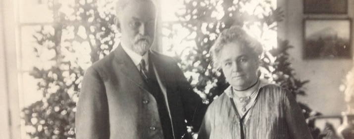 Mr. and Mrs. Longyear, the first donors to the Braille Institute.