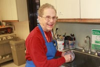 Barbara Talbert in the kitchen