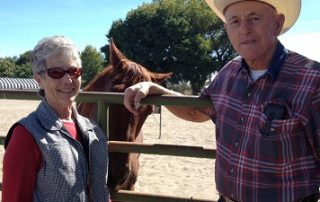 Starr and Herb F. with their horse Red