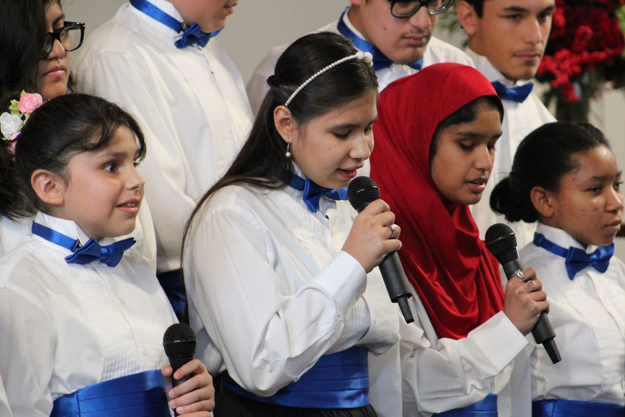 The Braille Institute youth students from Los Angeles and Orange County participated in a Winter Concert