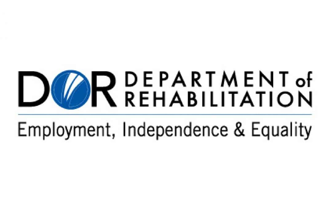 """Logo for the Department of Rehabilitation with the text """"Employment, Independence, and Equality"""""""