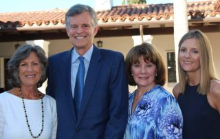 Sandy De Rousse, left, Braille Institute Auxiliary president; Peter Mindnich, Braille Institute of America president; Sydney Tredick, the auxiliary's first vice president and event chairwoman; and Susan Cass, Braille Institute Santa Barbara executive director, at the fourth annual Festival of Flavors.