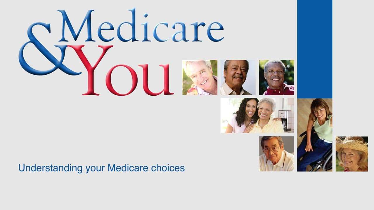 "Graphic with the words ""Medicare for you"" and photos of different people's faces"