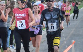 The tandem of Carly Mask and Dan Broz Near the finish line