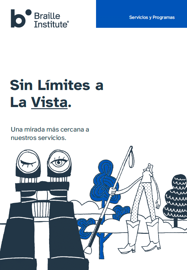 Cover of Spanish language brochure
