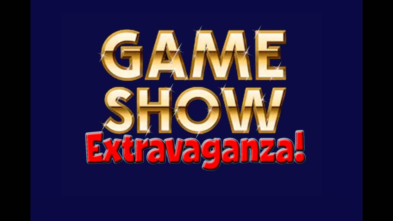 This background has the words Game Show Extravaganza