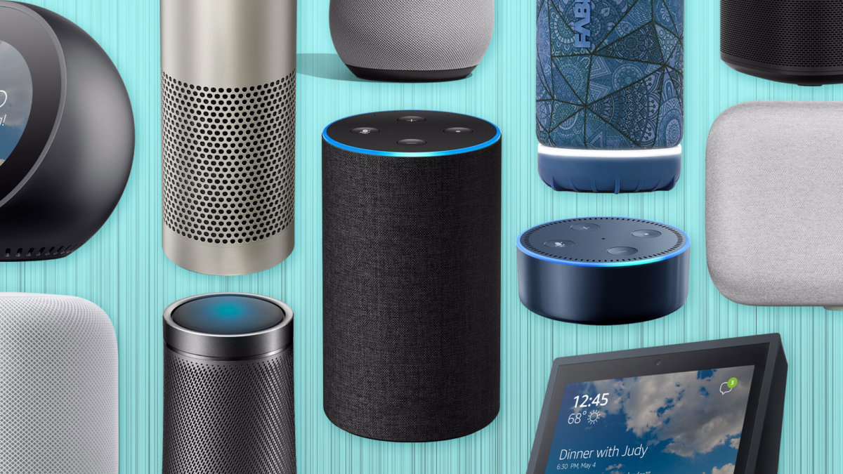 Collage of smart speakers