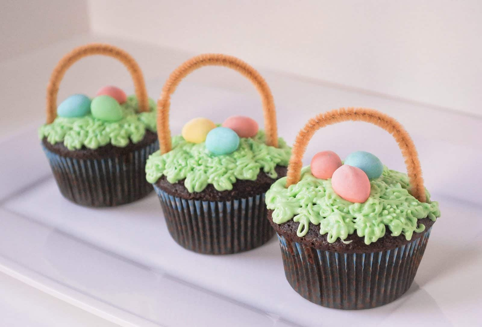 Spring baked goods, cupcakes