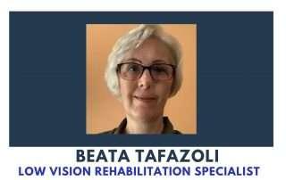 Photo of Braille Institute Low Vision team member Beata Tafazoli