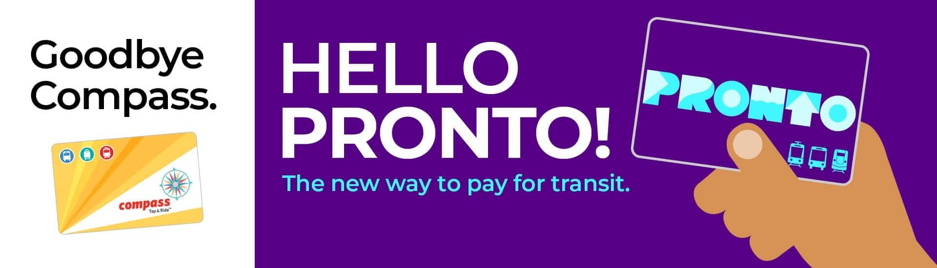 Graphic of new MTS Pronto card