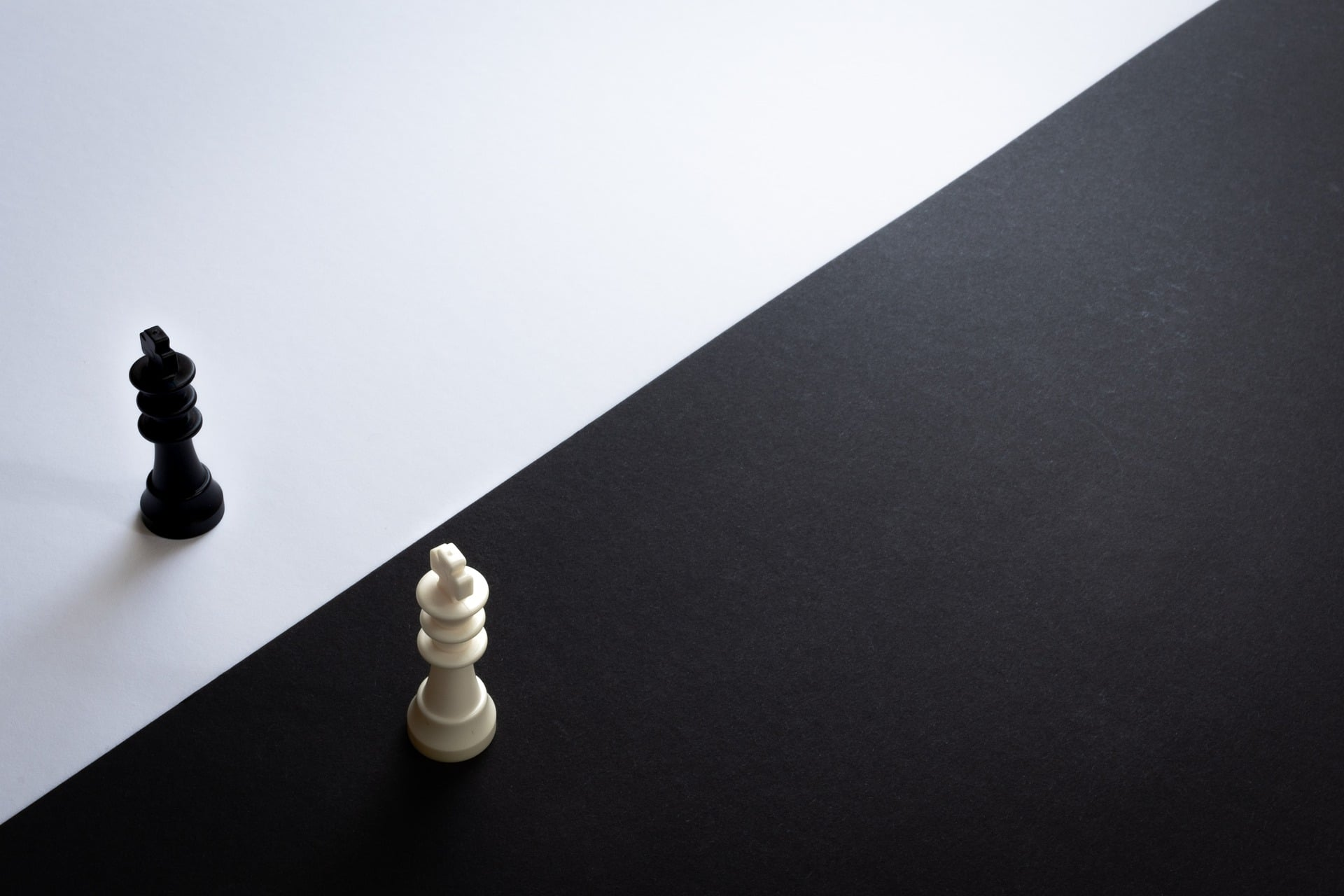 Chess pieces on contrast background
